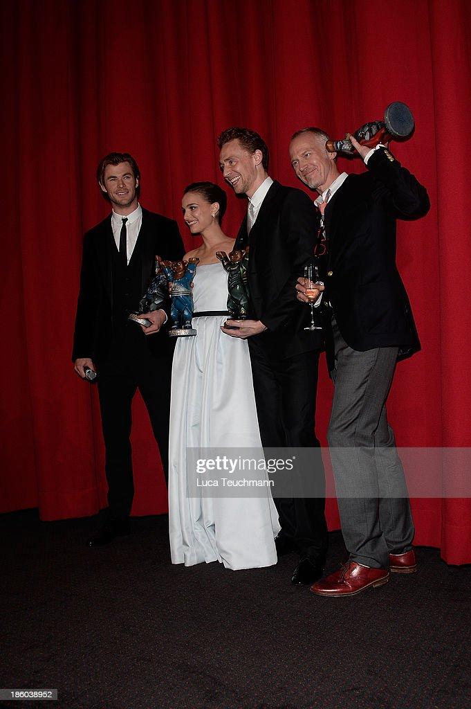 Chris Hemsworth, Natalie Portman,Tom Hiddleston and Alan Taylor arrive for