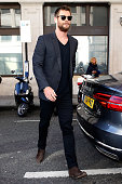 Chris Hemsworth seen arriving at the BBC Radio 2 Studios on March 31 2016 in London England