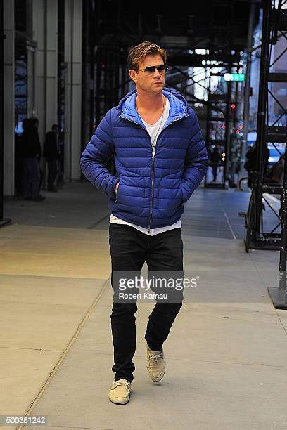 Chris Hemsworth seen out on December 7 2015 in New York City