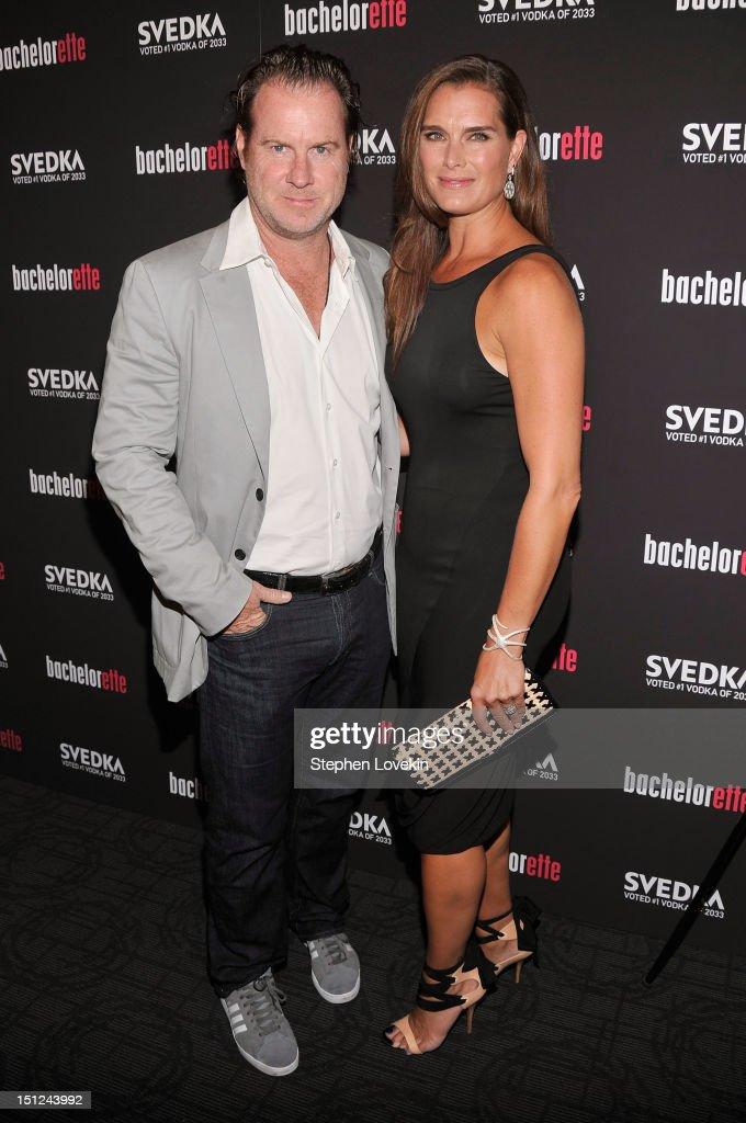 Chris Henchy and Brooke Shields attend the 'Bachelorette' New York Premiere at Sunshine Landmark on September 4, 2012 in New York City.