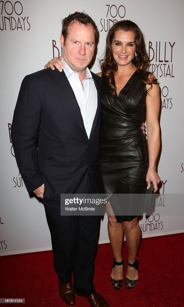 Chris Henchy and Brooke Shields attend the 'Billy Crystal - 700 Sundays' Broadway Opening Night Performance at the Imperial Theatre on November 13, 2013 in New York City.