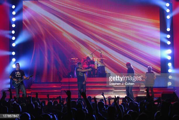 Chris Henderson Brad Arnold Greg Upchurch Todd Harrelland Matt Roberts of 3 Doors Down performs at Rupp Arena on October 1 2011 in Lexington Kentucky
