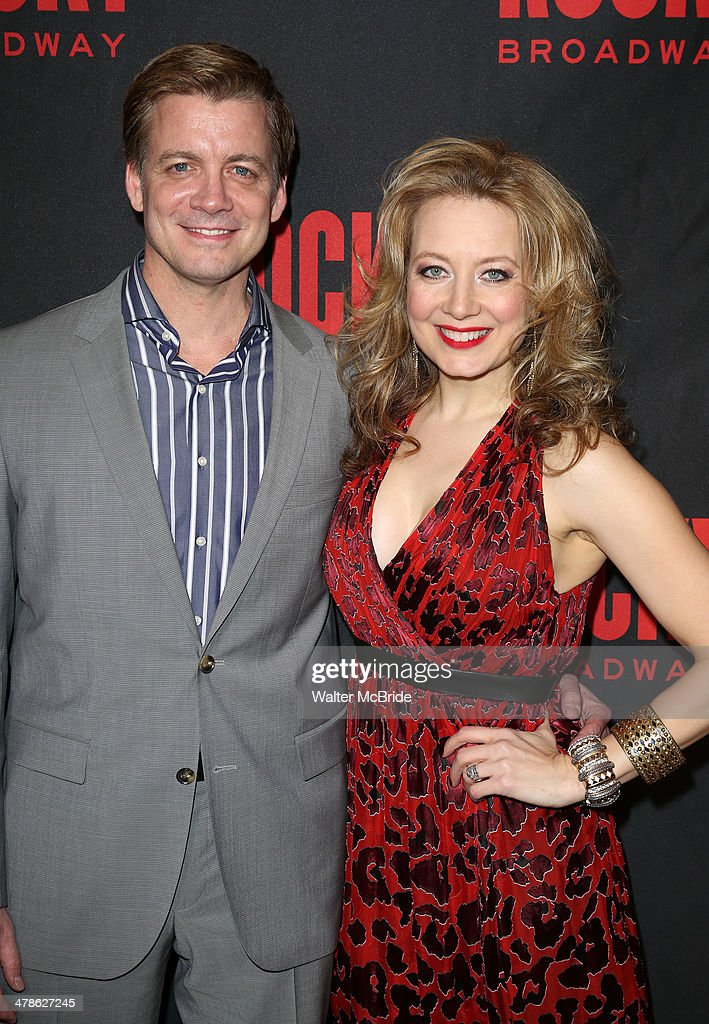 Chris Henry Coffey and Jennifer Mudge attend the 'Rocky' Broadway Opening Night After Party at Roseland Ballroom on March 13, 2014 in New York City.
