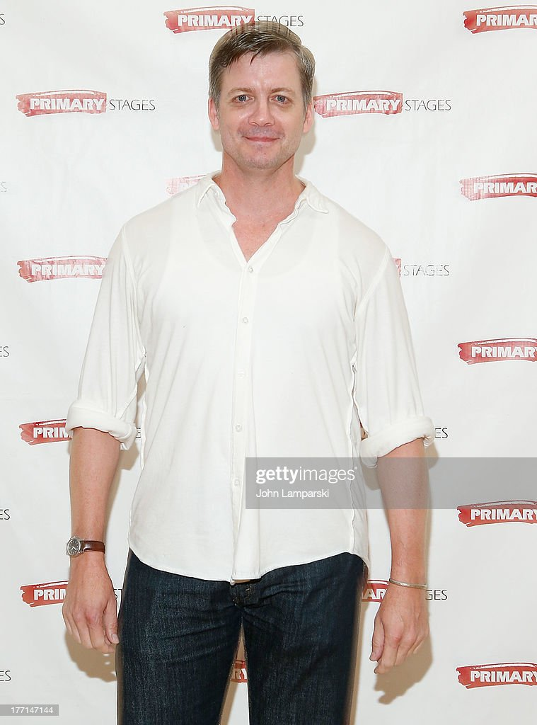 Chris Henry Coffey attends the cast meet and greet for the upcoming Off-Broadway production 'Bronx Bombers' at Playwrights Horizons Rehearsal Studios on August 21, 2013 in New York City.