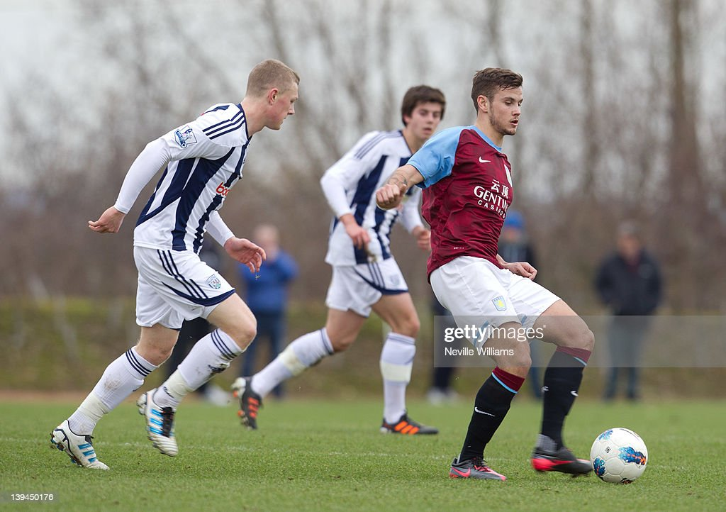 Chris Herd of Aston Villa in action during the Barclays Premier Reserve League match between Aston Villa Reserves and West Bromwich Albion Reserves at the club's training ground at Bodymoor Heath on February 21, 2012 in Birmingham, England.