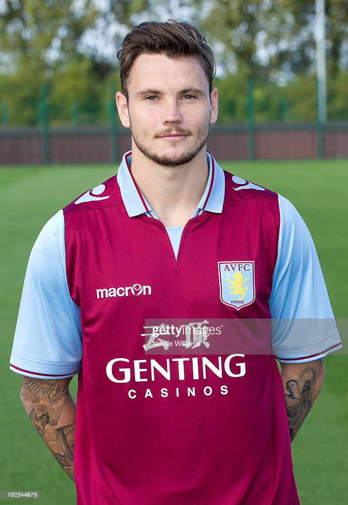 Chris Herd of Aston Villa poses during the club's 2012/13 photo call at the club's training ground at Bodymoor Heath on September 18, 2012 in Birmingham, England.
