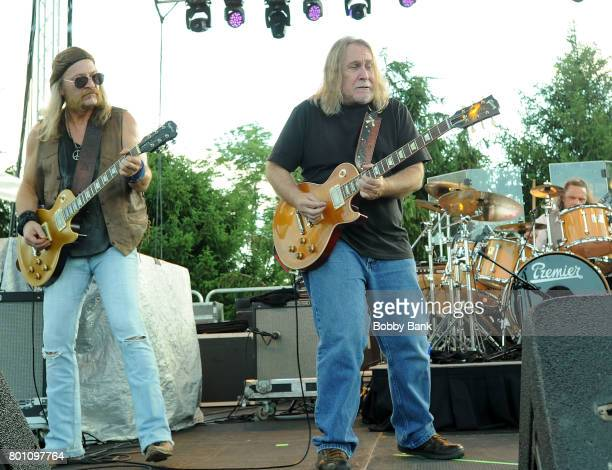 Chris Hicks and Doug Phelps of The Marshall Tucker Band performs at the 8th Annual Rock Ribs Ridges Festival at Sussex County Fairgrounds on June 25...
