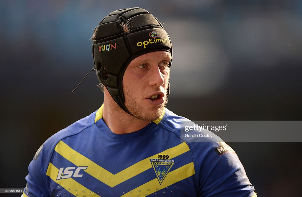 Chris Hill of Warrington Wolves in action during the Super League match between Warrington Wolves and St Helens at Etihad Stadium on May 18, 2014 in Manchester, England.