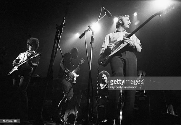 Chris Hillman Stephen Stills and Calvin Samuel of Manassas perform on stage at Concertgebouw in 1971 in Amsterdam Netherlands