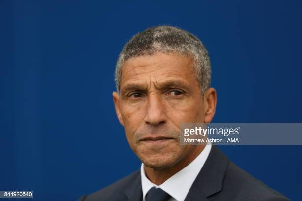 Chris Houghton the head coach / manager of Brighton and Hove Albion during the Premier League match between Brighton and Hove Albion and West...