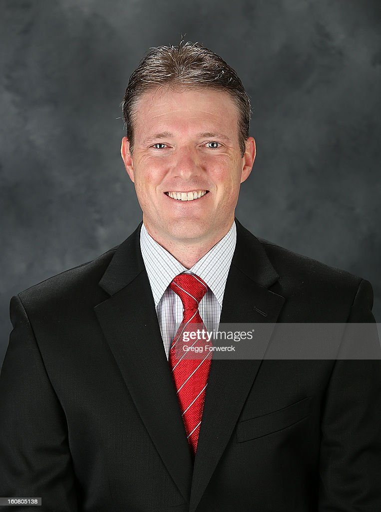 Chris Huffine, video coach of the Carolina Hurricanes, poses for his official headshot for the 2013 season on January 13, 2013 in Raleigh, North Carolina.