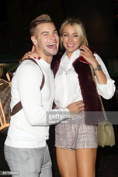 Chris Hughes and Olivia Attwood leaving Gabeto restaurant in Camden on August 22 2017 in London England