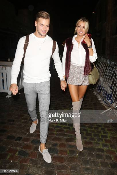 Chris Hughes and Olivia Attwood leaving Gabeto restaurant in Camden on August 22 2017 in London England