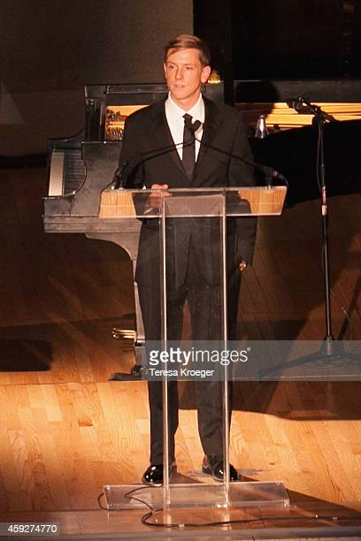 Chris Hughes Publisher and Executive Chairman of The New Republic speaks on stage at the New Republic Centennial Gala at the Andrew W Mellon...