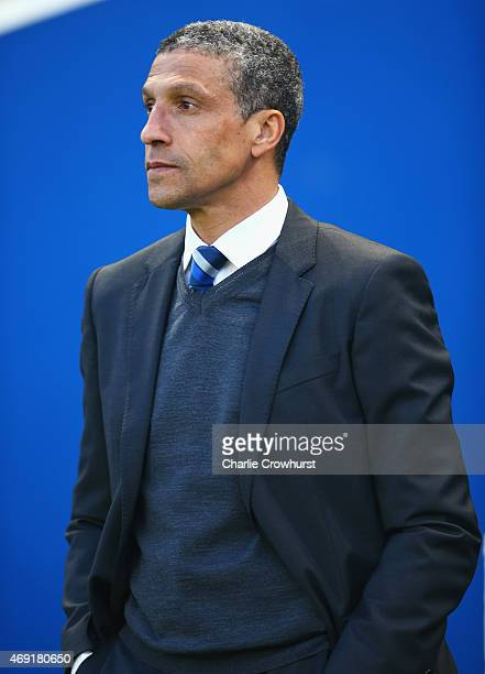 Chris Hughton manager of Brighton and Hove Albion looks on prior to the Sky Bet Championship match between Brighton Hove Albion and AFC Bournemouth...