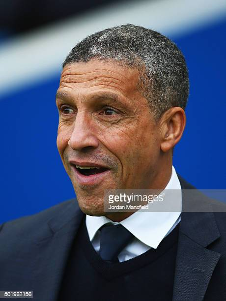 Chris Hughton manager of Brighton and Hove Albion looks on prior to the Sky Bet Championship match between Brighton and Hove Albion and Middlesbrough...
