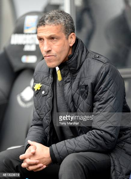 Chris Hughton Manager of Norwich City on the bench during the Barclays Premier League match between Swansea City and Norwich City at Liberty Stadium...