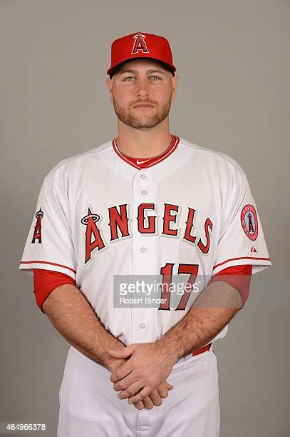 Chris Iannetta of the Los Angeles Angels poses during Photo Day on Saturday February 28 2015 at Tempe Diablo Stadium in Tempe Arizona