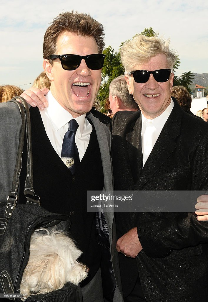 Chris Isaak and David Lynch attend Roy Orbison's induction into the Hollywood Walk Of Fame on January 29, 2010 in Hollywood, California.