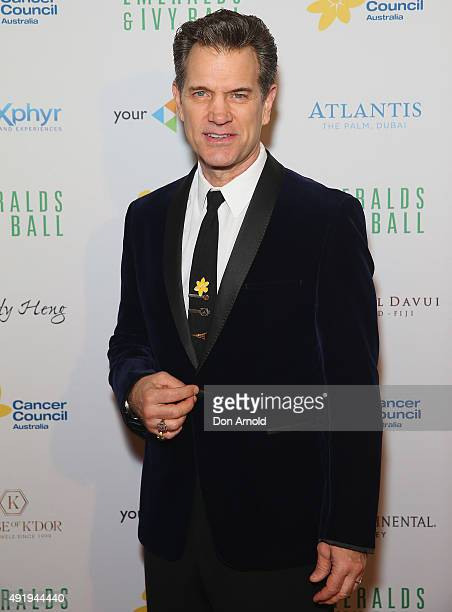 Chris Isaak arrives ahead of Cancer Council Australia's Emeralds Ivy Gala Ball at Sydney Town Hall on October 9 2015 in Sydney Australia
