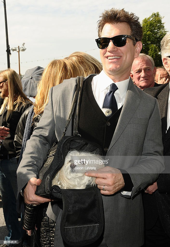 Chris Isaak attends Roy Orbison's induction into the Hollywood Walk Of Fame on January 29, 2010 in Hollywood, California.