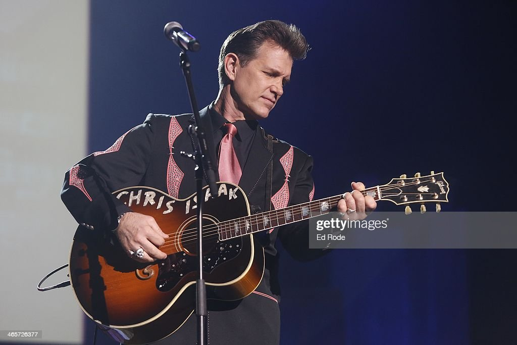 Chris Isaak attends the 2014 Musicians Hall of Fame Induction Ceremony at Nashville Municipal Auditorium on January 28, 2014 in Nashville, Tennessee.