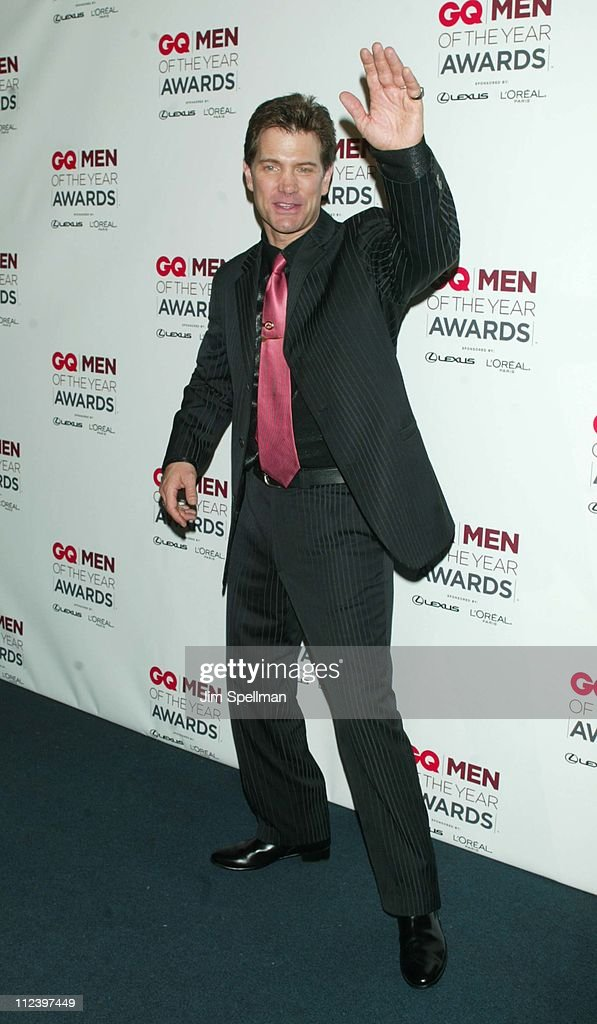 Chris Isaak during 2002 GQ Men of the Year Awards - Press Room at Hammerstein Ballroom in New York City, New York, United States.