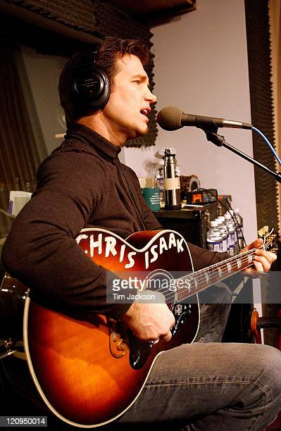 Chris Isaak during Chris Isaak Performs at KBCO Studio C December 14 2004 at KBCO Studio C in Boulder CO United States