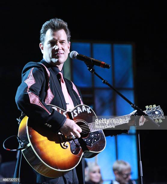 Chris Isaak performs at the 2014 Musicians Hall of Fame Induction Ceremony at Nashville Municipal Auditorium on January 28 2014 in Nashville Tennessee