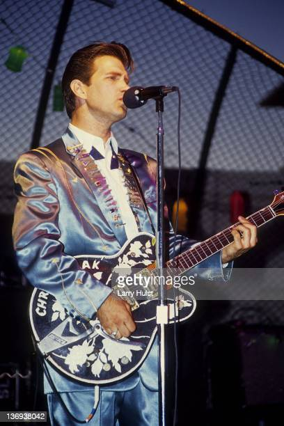 Chris Isaak performs at the Radisson Hotel in Sacramento California on January 1 1987