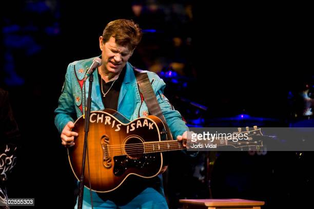 Chris Isaak performs on stage at L'Auditori on June 30 2010 in Barcelona Spain