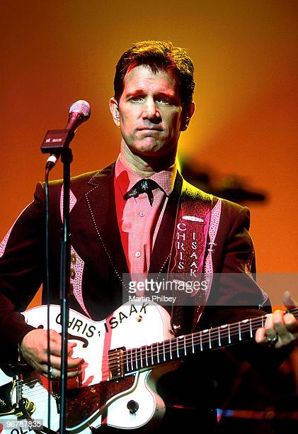 Chris Isaak performs on stage at the Palais Theatre on May 30th 2002 in Melbourne Australia