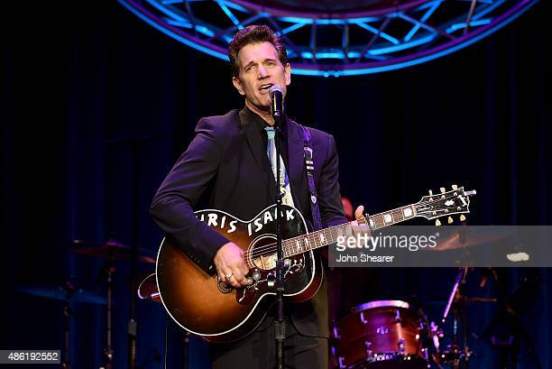 Chris Isaak performs onstage during the 9th Annual ACM Honors at the Ryman Auditorium on September 1 2015 in Nashville Tennessee
