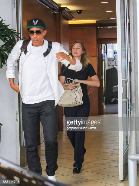 Chris Ivery and Ellen Pompeo are seen on May 24 2017 in Los Angeles California