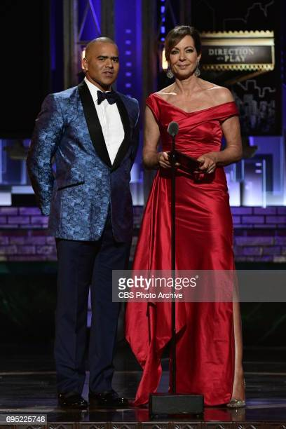 Chris Jackson and Allison Janney at THE 71st ANNUAL TONY AWARDS broadcast live from Radio City Music Hall in New York City on Sunday June 11 2017 on...