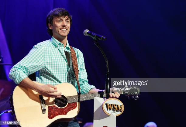 Chris Janson performs before ACM Lifting Lives Music Camp Performance On The Grand Ole Opry With Chris Janson at Grand Ole Opry House on June 27 2014...