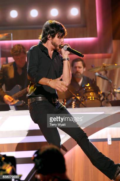 Chris Janson performs onstage during the 11th Annual ACM Honors at the Ryman Auditorium on August 23 2017 in Nashville Tennessee