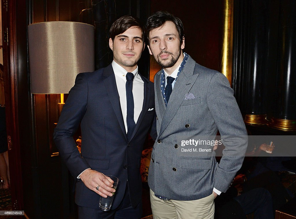 Chris Jepson and Ralf Little attend a party hosted by EE and Esquire at The Savoy Hotel ahead of the 2014 EE British Academy Film Awards on February...
