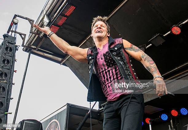 Chris Jericho of Fozzy performs during 2014 Rock On The Range at Columbus Crew Stadium on May 17 2014 in Columbus Ohio