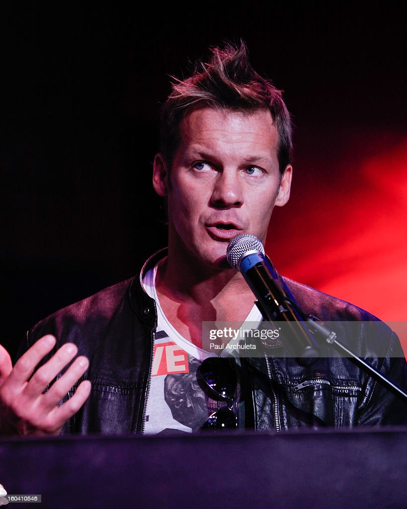 Chris Jericho of the Rock Band Fozzy attends the 5th annual Revolver Golden Gods Awards nominee announcements at the Hard Rock Cafe Hollywood on January 30, 2013 in Hollywood, California.