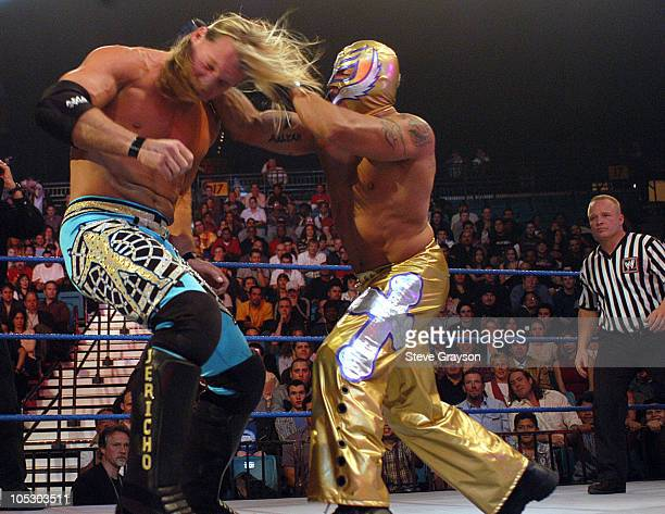 Chris Jerico and Rey Mysterio during First Annual Spike TV Video Game Awards Show at MGM Grand Arena in Las Vegas Nevada United States