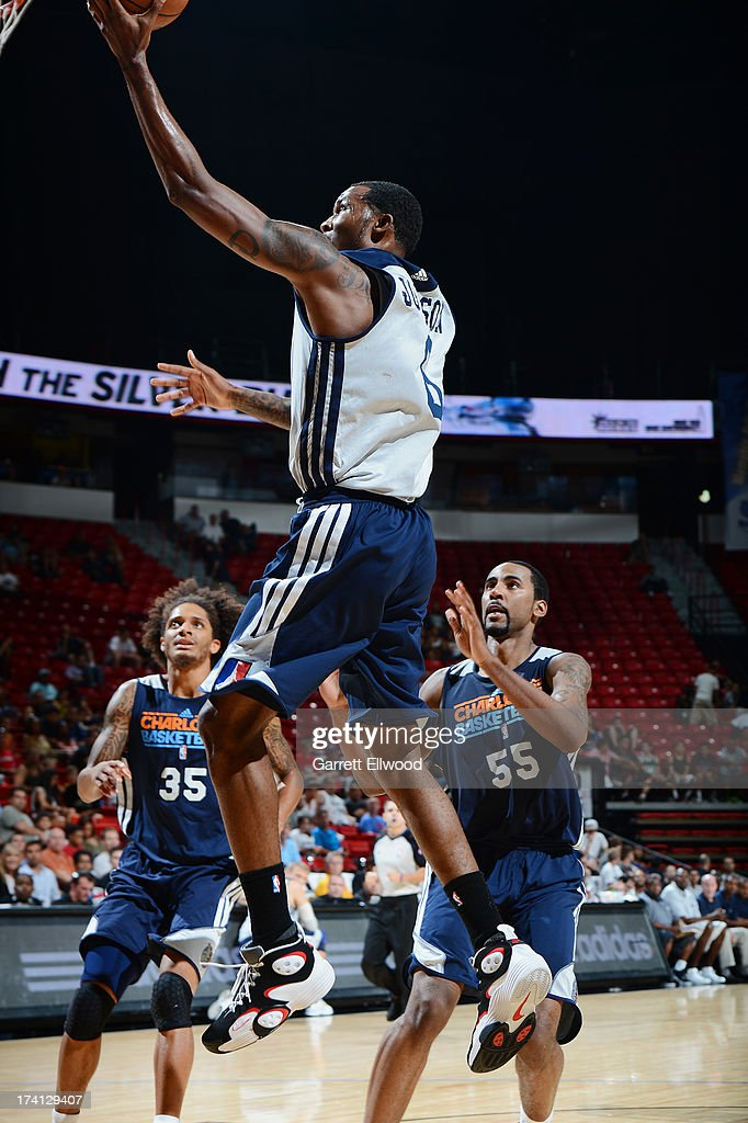 Chris Johnson #6 of the D-League Select Team goes to the basket during NBA Summer League game between the Charlotte Bobcats and the D-League Select Team on July 20, 2013 at the Cox Pavilion in Las Vegas, Nevada.