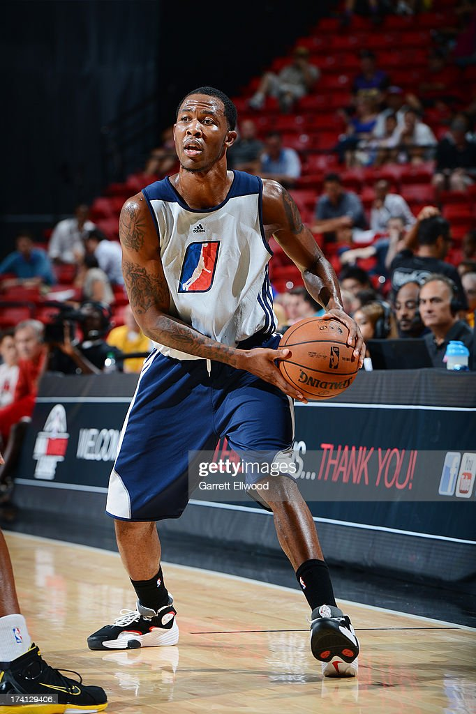 Chris Johnson #6 of the D-League Select Team handles the ball during NBA Summer League game between the Charlotte Bobcats and the D-League Select Team on July 20, 2013 at the Cox Pavilion in Las Vegas, Nevada.