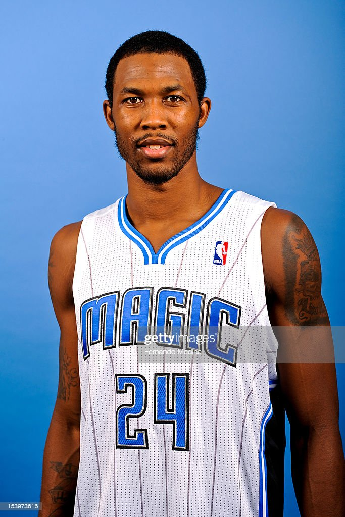 Chris Johnson #24 of the Orlando Magic poses for a portrait before a pre-season game against the Philadelphia 76ers on October 11, 2012 at Amway Center in Orlando, Florida.