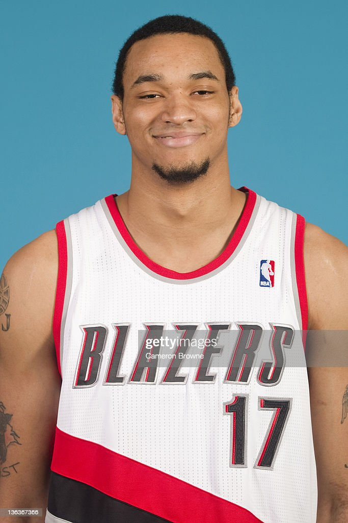 Chris Johnson #17 of the Portland Trail Blazers poses for a portrait during Media Day on December 16, 2011 at the Rose Garden Arena in Portland, Oregon.