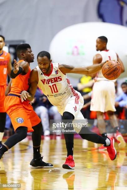 Chris Johnson of the Rio Grande Valley Vipers drives to the basket against the Iowa Energy in an NBA DLeague game on April 1 2017 at the Wells Fargo...