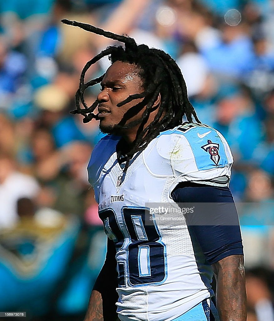 Chris Johnson #28 of the Tennessee Titans walks on to the field during the game against the Jacksonville Jaguars at EverBank Field on November 25, 2012 in Jacksonville, Florida.