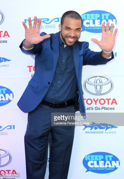 Chris Jones attends Keep It Clean Live Comedy Benefit for Waterkeeper Alliance at Avalon Hollywood on April 20 2017 in Los Angeles California