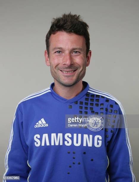 Chris Jones of Chelsea poses during the Chelsea FC Photocall at the Cobham training ground on August 26 2011 in Cobham England