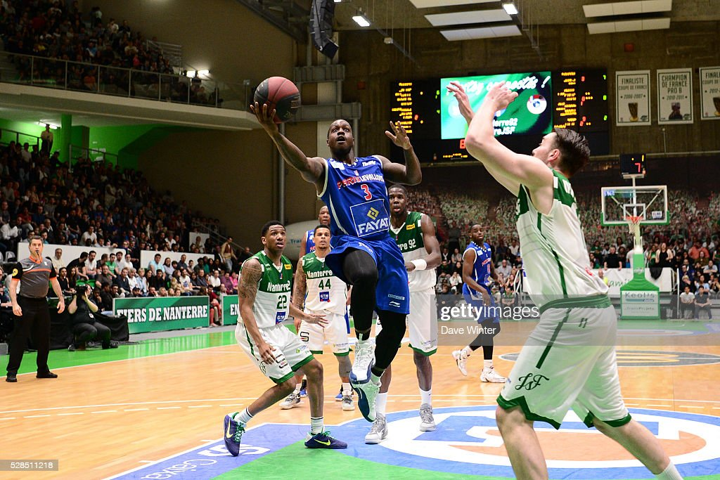 Chris Jones of Paris Levallois during the basketball French Pro A League match between Nanterre and Paris Levallois on May 5, 2016 in Nanterre, France.
